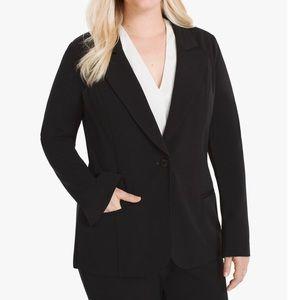 WHBM Plus Kit Black Single Button Blazer Jacket